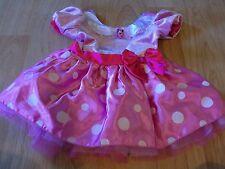 Size 18 Months Disney Store Minnie Mouse Costume Dress Pink White Polka Dots EUC
