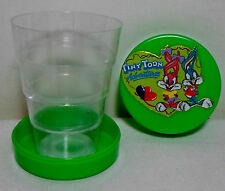 GREEK VTG 1998 LOONEY TINY TUNES BUGS & LOLA BUNNY PLASTIC FOLDING CUP UNUSED B