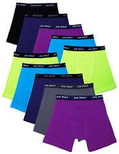 Joe Wolf 10 Pack Men's Cotton Blend Spandex Boxer Briefs Underwear