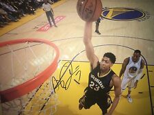 ANTHONY DAVIS SIGNED 16X20 STRETCHED CANVAS PRINT PELICANS SUPERSTAR