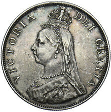 More details for 1890 double florin - victoria british silver coin - very nice