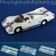 Scalextric/Slot Car 1/32, 1/43, 1/64 'Martini' Waterslide Decals (with White)