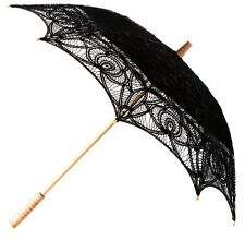 Black Lace Parasol Unbrella Vintage Victorian Style - Weddings  Theatre New