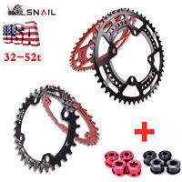 SNAIL 32T-52T MTB Bike 104BCD Narrow Wide Bicycle Sprocket Chainring Chainwheel