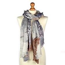 Écharpes et châles gris en 100% cachemire pour femme
