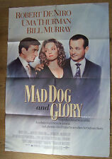 Robert De Niro Uma Thurman MAD DOG AND GLORY(1992) Original US movie poster