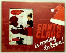 SANTA CLAUS COMING TO TOWN PICTURE FRAME Christmas Photo NEW Easel Tabletop Desk