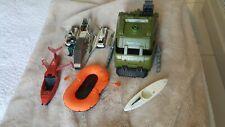 GI Joe Vehicle Lot bundle Vintage space tank boat canoo helicoptor x5 +1 figure