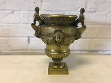Antique Gilt Bronze Urn Sphinx Lion Woman & Man Decoration After Claude Ballin