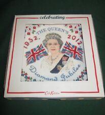 Cath Kidston Queen Elizabeth Diamond Jubilee 1952-2012 Fine China Plate NIB Rare