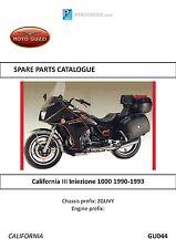Moto Guzzi parts manual 1990, 1991, 1992 & 1993 California III Iniezione 1000