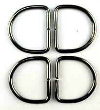 4 Halbringe D-Ringe 50 mm Brüniert glänzend