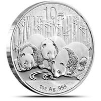 New 2013 Chinese Silver Panda 1oz 99.9% Silver Bullion Coin Encapsulated by Mint