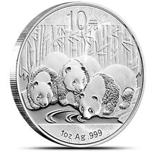 New 2013 Chinese Silver Panda 1oz Bullion Coin (Encapsulated by the Mint)
