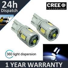 2x W5w T10 501 Xenon Blanco 360 Cree Led sidelight bombillas Brillante sl103403