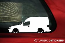 2x Lowered car stickers auto aufkleber - for Opel Combo B van | tuning