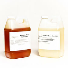 EPOXY ADHESIVE HIGH PERFORMANCE BONDING POTTING  CLEAR AMBER 2 GALLON KIT!