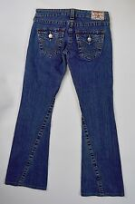 Authentic True Religion Women's 26 x 30 Joey Bootcut Jeans, Flap Button Pockets