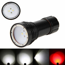 Diving 4000LM 4x XM-L2 +2X RED Scuba Photography Flashlight Torch Underwater