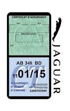 Porte vignette assurance JAGUAR double étui voiture Anglaise Stickers auto rétro