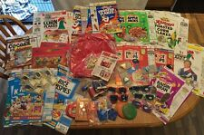 HUGE lot Of Kellogg's Cereal Boxes/ Toys Vintage Most Toys Are Sealed. LOOK!!