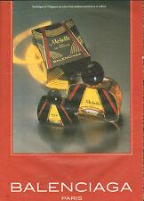 Publicité Advertising 1982  Parfum Michelle de BALENCIAGA paris eau de toilette