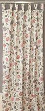 Schlaufenschal Vorhang Gardine 140 x 245 Blumenmotiv Jacquard bunt Rosen Lilien