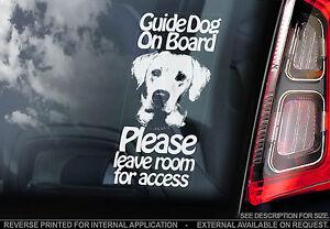 Guide Dog - Car Window Sticker - Dog On Board - Labrador Blind Seeing-Eye Sign