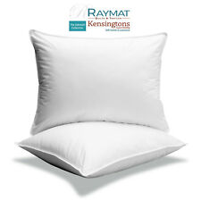 2 x Microfibre Pillows Luxury Hotel Quality Square Pillows Cushion Insert 2 in 1