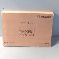 99 1999 Mazda Protege owners manual ENGLISH/FRENCH