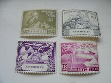 Seychelles set of 4 stamps UPU 1949 KGVI very lightly mounted mint