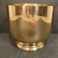 Vintage Collectible Spun Brass Votive/Pot With Beautiful Shinny Finish Plant