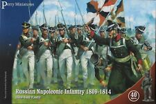Perry Miniatures Russian Napoleonic Infantry 1809-14 (40) 28mm Plastic New!