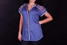 Ukrainian embroidered sorochka, blouse, vyshyvanka, embroidery, Size L