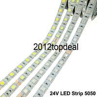 DC24V LED Strip 5050 Flexible LED Light RGB LED Strip 60LEDs/m 5m/lot