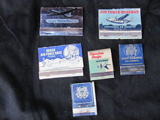 VINTAGE-LOT-6-MATCHCOVERS AVIATION MAINLY MILITARY TYPE BASES