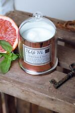 Candle Gift Set Grapefruit & Basil Scented Soy Wax With Inspired Quotes
