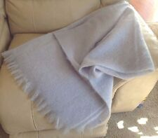 Toison D'or France Mohair Blend Wool Nylon Blue Blanket Throw Made South Africa