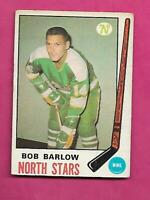 1969-70 OPC # 196 NORTH STARS BOB BARLOW ROOKIE GOOD CARD (INV# C5908)