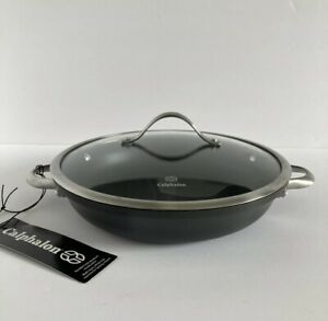 CALPHALON nonstick Frying Pan 12 inch 1382 Double handle with Lid - NEW