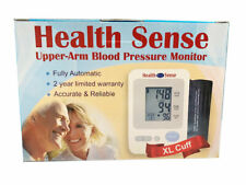 NEW Health Sense Digital Upper Arm Blood Pressure Monitor wth XL Cuff Ships Free