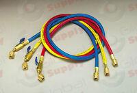 "Yellow Jacket 29985 3-Pak (RYB) 60"" PLUS II Hoses w/ Compact Ball Valves"