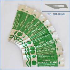 10pc Carbon Steel No 10A Sealed Sterile Surgical Scalpel Blades for Handle #3, 5