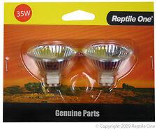 Reptile One R1-46542G Repl. Globes 2/pk for Fan Heater 35W Low Voltage Terrarium