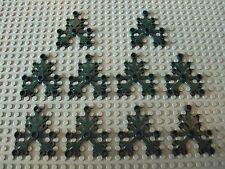 Lego Minifig ~ Lot Of 10 Large Dark Green Plant/Tree Leaves Leaf Limb Branch