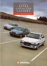 Vauxhall Astra Cavalier Calibra Improvements 1990-91 UK Market Sales Brochure