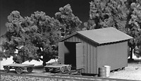 Tichy Train Group Handcar Shed Kit HO Scale New