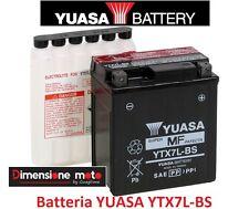 """Batteria YUASA YTX7L-BS 12V-6Ah """"MF"""" per SUZUKI RV 125 Van Van dal 2003 al 2013"""