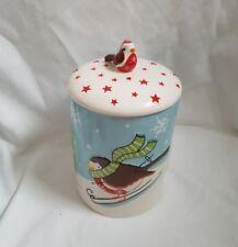 ❀ ڿڰ ❀ Babbo Natale & Friends Robin in Ceramica Cookie Jar, Scatola per biscotti, Trattare JAR ❀ ڿڰ ❀