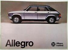 1975-1979 Austin Allegro Sales Brochure - French Text for Belgian Market